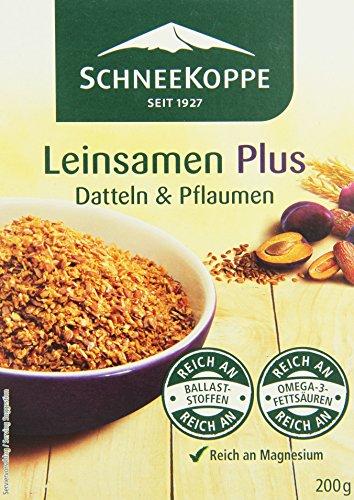 Schneekoppe Leinsamen Plus, 4er Pack (4 x 200 g)