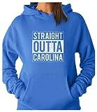 Tstars TeeStars - Straight Outta Carolina - Cool Gift For Football Fans Women Hoodie