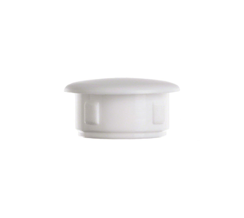 50 piezas tapones para orificios agujeros tapas 10x7 blanco capuchó n Tapó n ciego Tapó n de plá stico EMFA plug for fixing holes