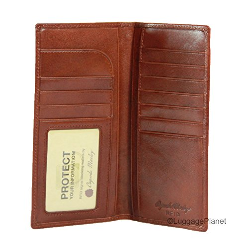 Osgoode Marley Sienna Collection Coat Pocket Mens RFID Leather Wallet (Whiskey) ()