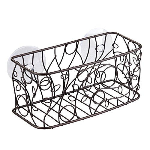 InterDesign Twigz Suction Basket Bronze