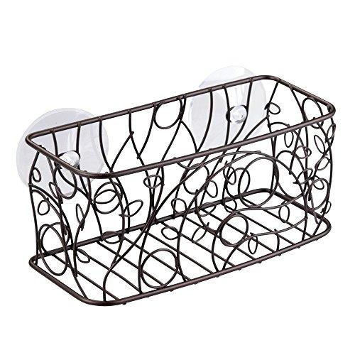 InterDesign Twigz Bronze Suction Corner Shower Basket Bath C