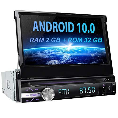 🥇 AWESAFE Android 10.0 [2GB+32GB] 7 Pulgadas Pantalla Universal 1 DIN Radio