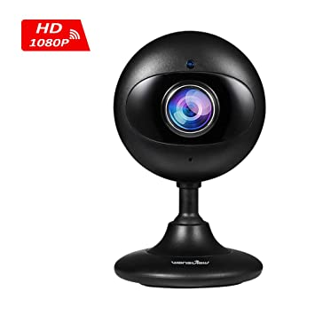 Wansview IP Camera, 1080P WiFi Wireless IP Camera for Baby/Elder/Pet/Nanny  Monitor with Two Way Audio and Night Vision, SD card Slot (Black)
