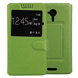 Boweike Flip Stand-design Leather Cover Skin Protection Case for BLU Life One M L131 L131 L131l L131u New (Green)