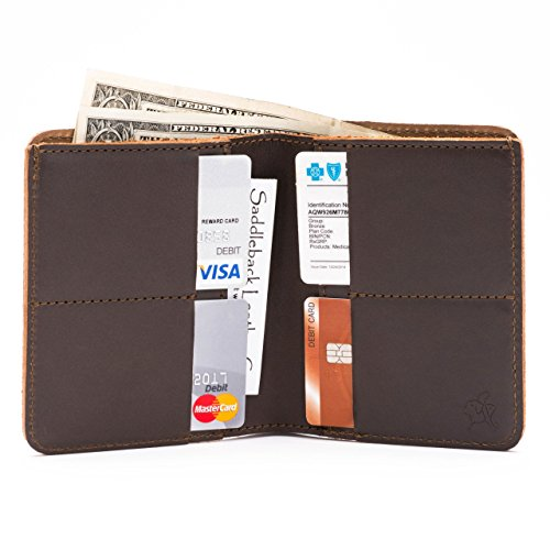 RFID Bifold Co Coffee Includes Wallet Year 100 Men Large Leather Warranty For Shielded Dark Saddleback Leather vZ8xq5TwxI