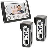 Docooler® 7 Inch LCD Home Security Video Door Phone Intercom Kit 2 Cameras 1 Monitor