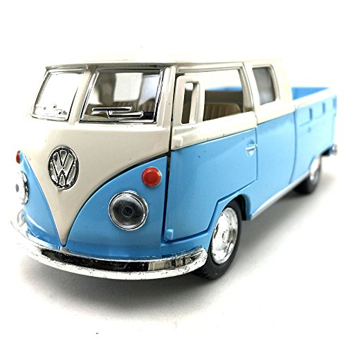 - KiNSMART 1963 Volkswagen VW Classical Bus Double CAB Pick Up 1:34 DieCast Model Toy Car Collectible