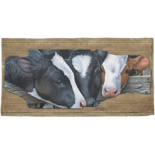Queens of the Dairy Farm Cows All Over Beach Towel Multi Standard One Size by Animal World