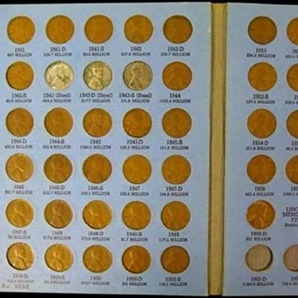 LINCOLN HEAD CENT COLLECTION Number 2 Album Book COMPLETE up to 1941-1974 pds