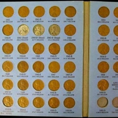 (Complete Lincoln Wheat Penny Cent Collection Album 1941 - 1958 P D S Set )