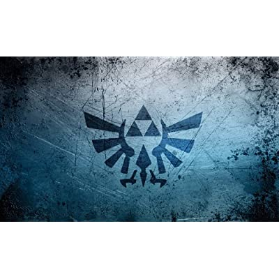 Zelda Triforce Playmat + Free RFG Standard Size Sleeves 75 Count: Toys & Games