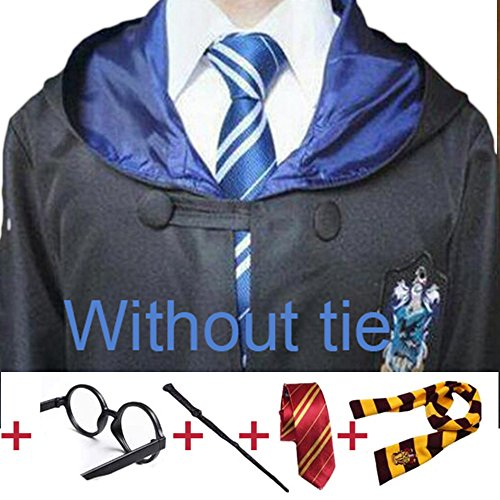 Besties Shop Harry Potter Cosplay Costume Scarf Striped Tie with Novelty (Hermione From Harry Potter Costume)