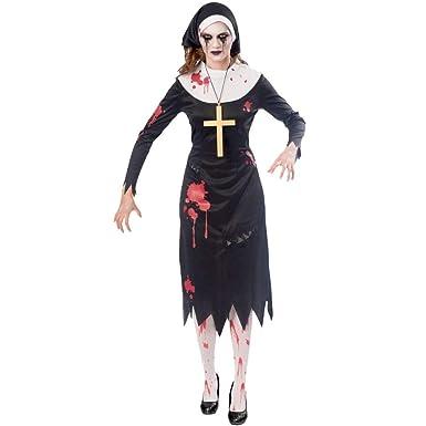 zombie nonne halloween kostum damen amscan