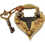 Heart Shape Brass Puzzle Lock