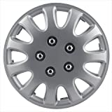 "Pilot Automotive WH525-14S-BX 5 Lug Silver 14"" Wheel Cover, (Set of 4)"