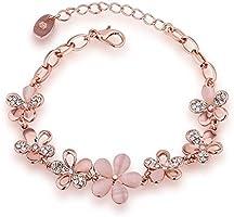 YouBella Jewellery Rose Gold Plated Crystal Bracelet Bangle