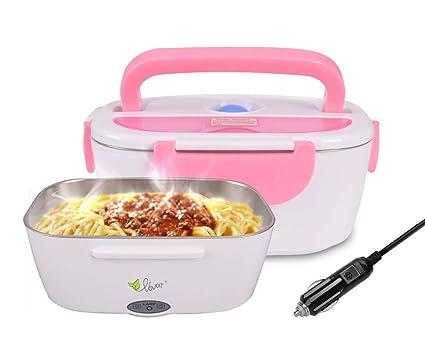 HJL Fiambrera eléctrica comida térmico Lunch Box Fiambreras bento Uso en coche eléctrica con Bandeja extraíble