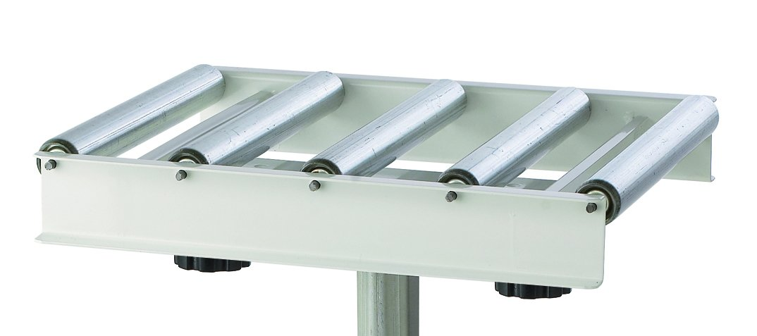 Adjustable Roller Table Stand HTC HRT-10 Super Duty Conveyor Feed Stand With 5 Ball Bearing Rollers