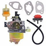 NIMTEK Carburetor W/ Primer Bulb Fuel Filter Fuel Line Gaskets Fit HUAYI 165S 165SA 170S 170SA Snowblower