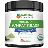 Wheatgrass Powder – USDA Certified Organic Wheat Grass Powder That Is Rich In Essential Amino Acids, Chlorophyll, Antioxidants, Fatty Acids, Minerals & Vitamins – US Grown – Vegan & Non-GMO Superfoods For Sale