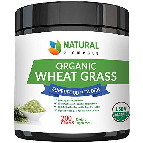 Wheatgrass Powder - USDA Certified Organic Wheat Grass Powder That Is Rich In Essential Amino Acids, Chlorophyll, Antioxidants, Fatty Acids, Minerals & Vitamins - US Grown - Vegan & Non-GMO Superfoods (Dr Oz Best Greek Yogurt)