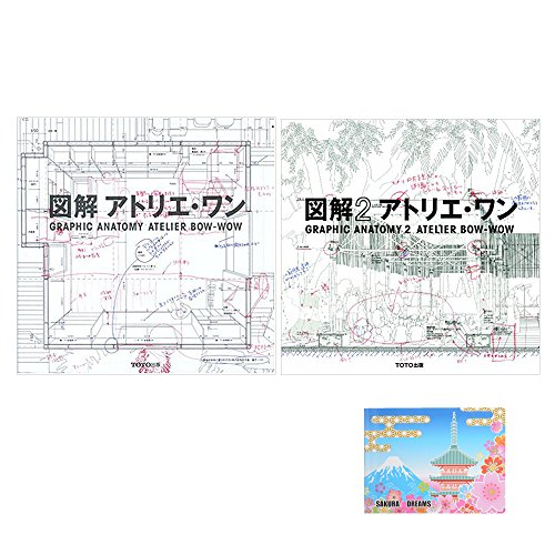 Sticky Note Graphic - Atelier 2 Books Bundle Set , Atelier Bow Wow - Graphic Anatomy 1 & 2 ( English and Japanese Edition) , Original Sticky Notes