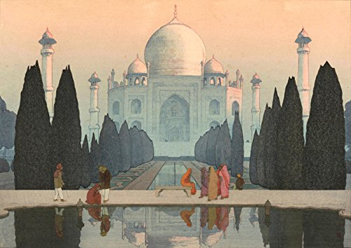 (Japanese Art Print - Morning Mist at the Taj Mahal from the India and Southeast Asia Series by Yoshida Hiroshi (11