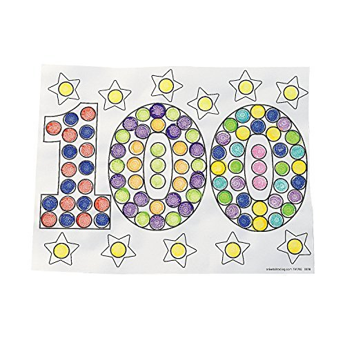 Color Your Own 100th Day of School Dot Marker Activity Sheets by CusCus