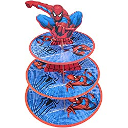 Betop House 3-Tire Spider-Man Themed Party Cupcake Dessert Stand