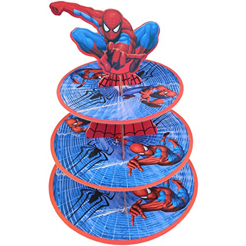 Betop House 3-Tire Spider-Man Themed Party Cupcake Dessert -