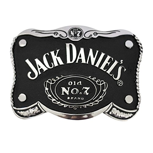 Jack Daniels Buckle - Jack Daniels Brand Shaped Black Belt Buckle - 5067JD