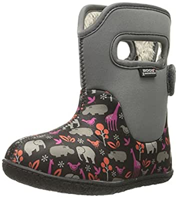 Bogs Baby Bogs Classic Animals Waterproof Insulated Rain Boot , Gray Multi, 4 M US Toddler