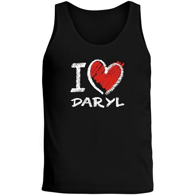 Idakoos Love Daryl Chalk Style - Nombres Femenino - Camiseta de Tirantes: Amazon.es: Ropa y accesorios