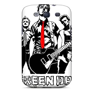 Anti-Scratch Hard Phone Cover For Samsung Galaxy S3 (MGY6365cBLE) Provide Private Custom Stylish Green Day Band Pattern