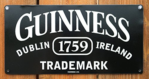 Guinness Sign - Guinness Trademark Tin Sign 14 x 7in