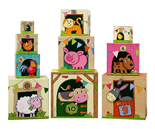 HABA HB 300312 Farm Stacking Cubes product image