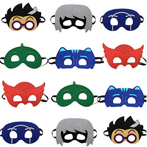 - STARKMA 12pc Cartonn Hero Party Favors Dress Up Costume Mask