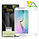 Galaxy S6 Edge Plus Screen Protector, Akpati Full Coverage 3D Curved Tempered Glass Clear Anti-Bubble Film [Full Coverage][Case Friendly][Anti-Scratch] for Samsung Galaxy S6 Edge Plus - White