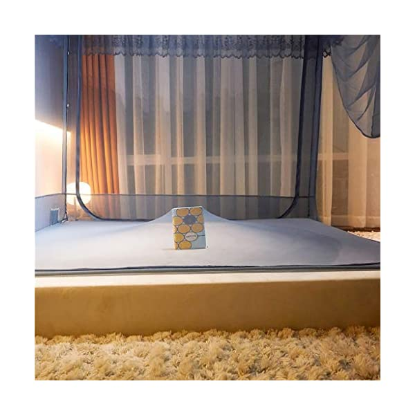 Shuang Mosquito Net Home Estate, 3 Elementi, Yurta zanzariera, 1,5 m-2m anticaduta Bambino Completamente Chiusa Anti… 6 spesavip