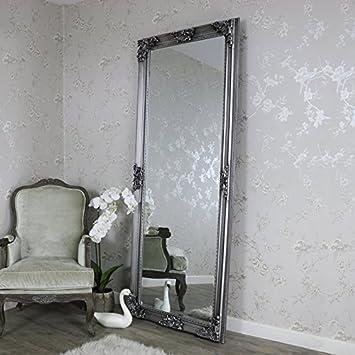Melody Maison Extra, Extra Large Ancien Argent Longueur complète Miroir  Mural de Sol e1032d24587a