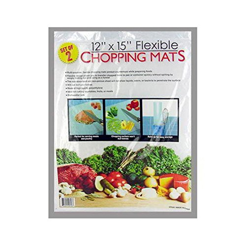 48 Packs of 2 Flexible Chopping Mats 12''x15'' by FindingKing