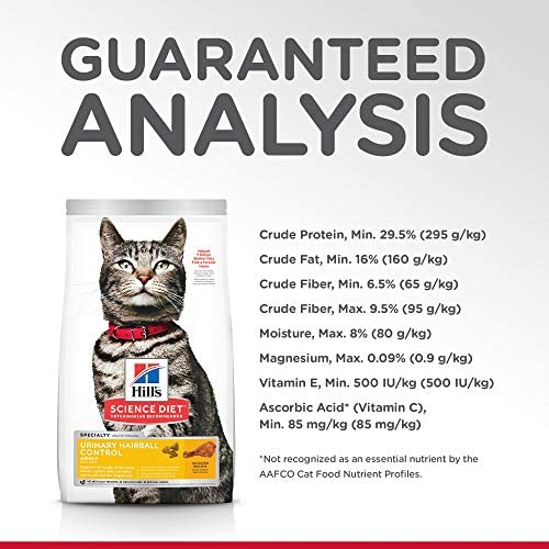 Hill's Science Diet Dry Cat Food, Adult, Urinary & Hairball Control, Chicken Recipe 8