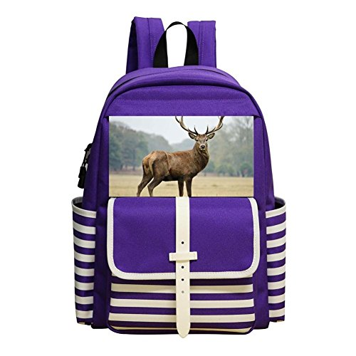 Deer Art Backpack School Bags Student Book Bag Daypack For Students