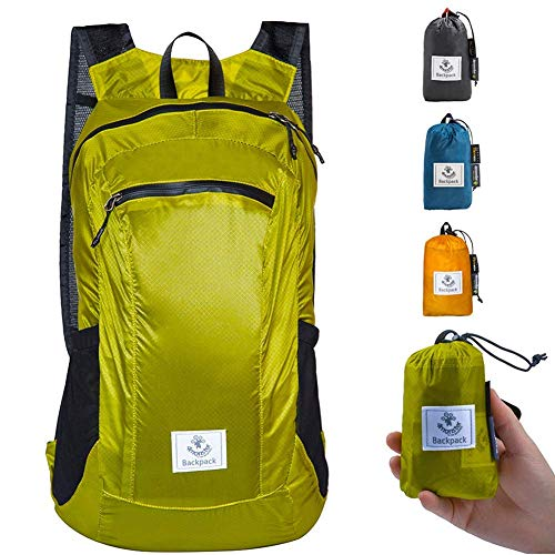 4Monster Durable Packable Backpack – Ultra Lightweight Water Resistant Foldable Outdoor Daypack Collapsible Backpack for Day Hiking, Travel