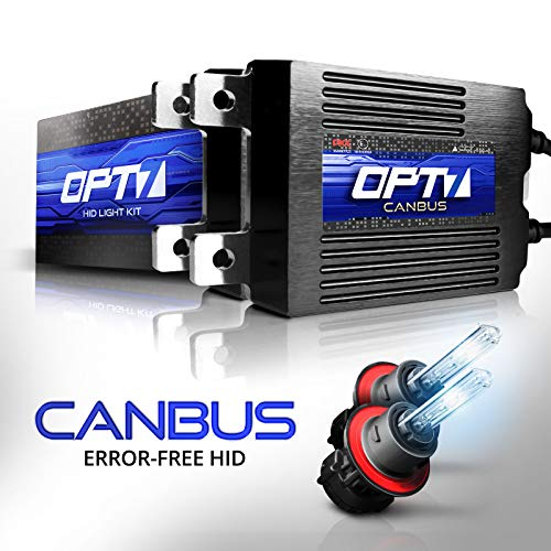 OPT7 Boltzen AC CANbus H13 Bi-Xenon HID Kit - 5X Brighter - 6X Longer Life - All Bulb Sizes and Colors - 2 Yr Warranty [8000K Ice Blue Light]