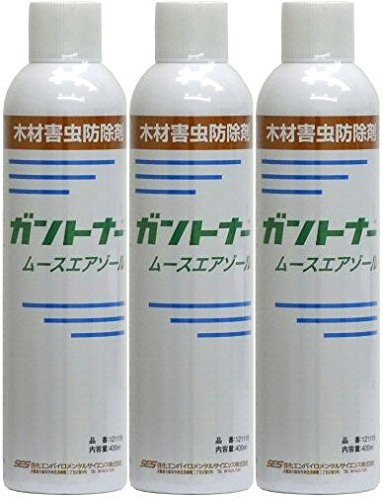 業務用 シロアリ駆除用 ガントナー ムースエアゾール 400ml×3本 木材害虫防除剤 B07DGSPZ8L