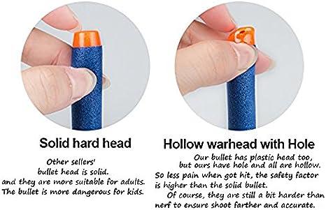 Little Valentine 100pcs 7.2cm Refill Darts Foam Bullet Ammo Pack for Nerf N-Strike Elite Series Blue