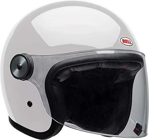 Bell Riot Flip-Up Motorcycle Helmet (Solid Gloss White, Medium)
