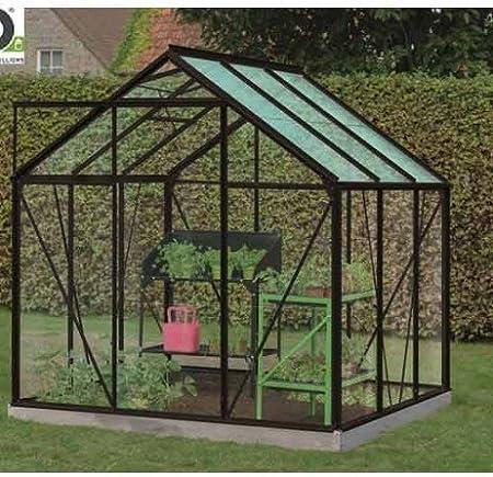 Serre De Jardin En Verre Trempe Daisy 3 8m Longueur 1 95 M Largeur 1 93 Msilver Amazon Fr Jardin